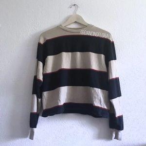 Brandy Melville Gretchen oatmeal burgundy sweater